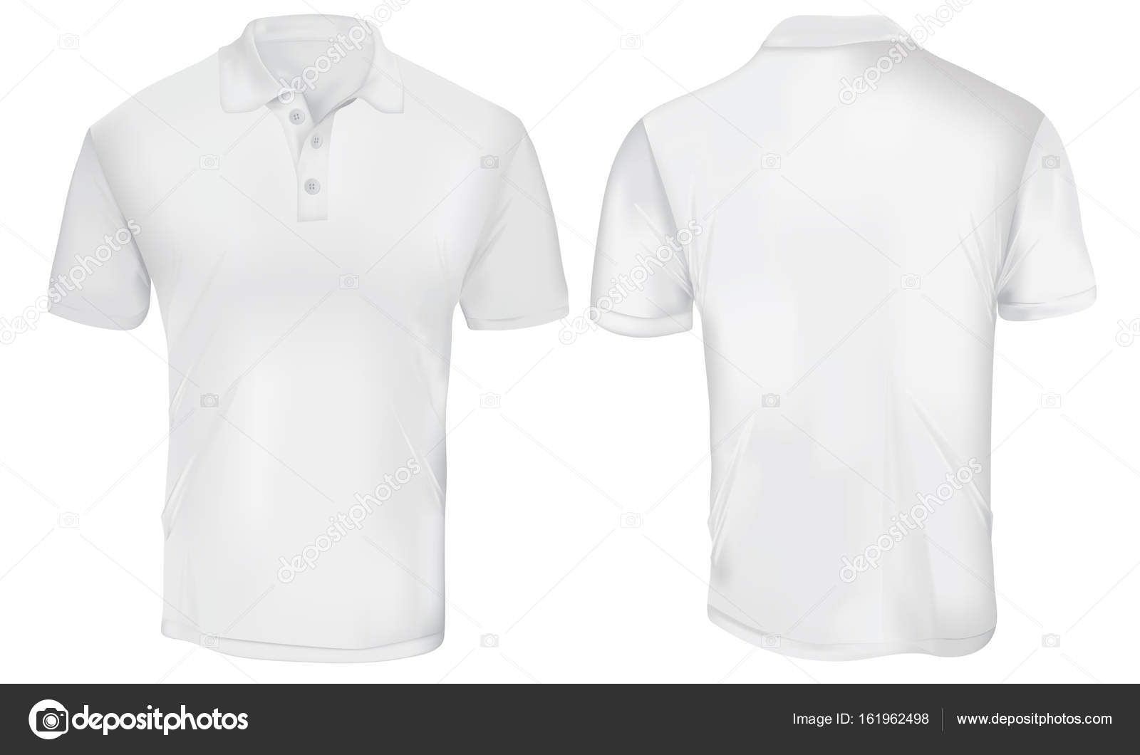 White Polo Shirt Template Stock Vector 169 Airdone 161962498