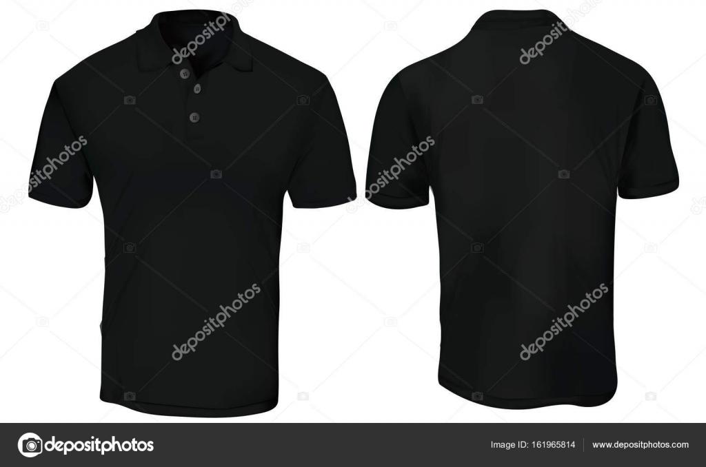 Schwarzes Polohemd Vorlage — Stockvektor © airdone #161965814