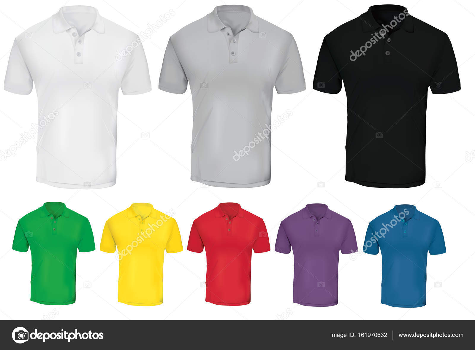 495aa1c08d5 Plantilla colorida camiseta Polo — Vector de stock