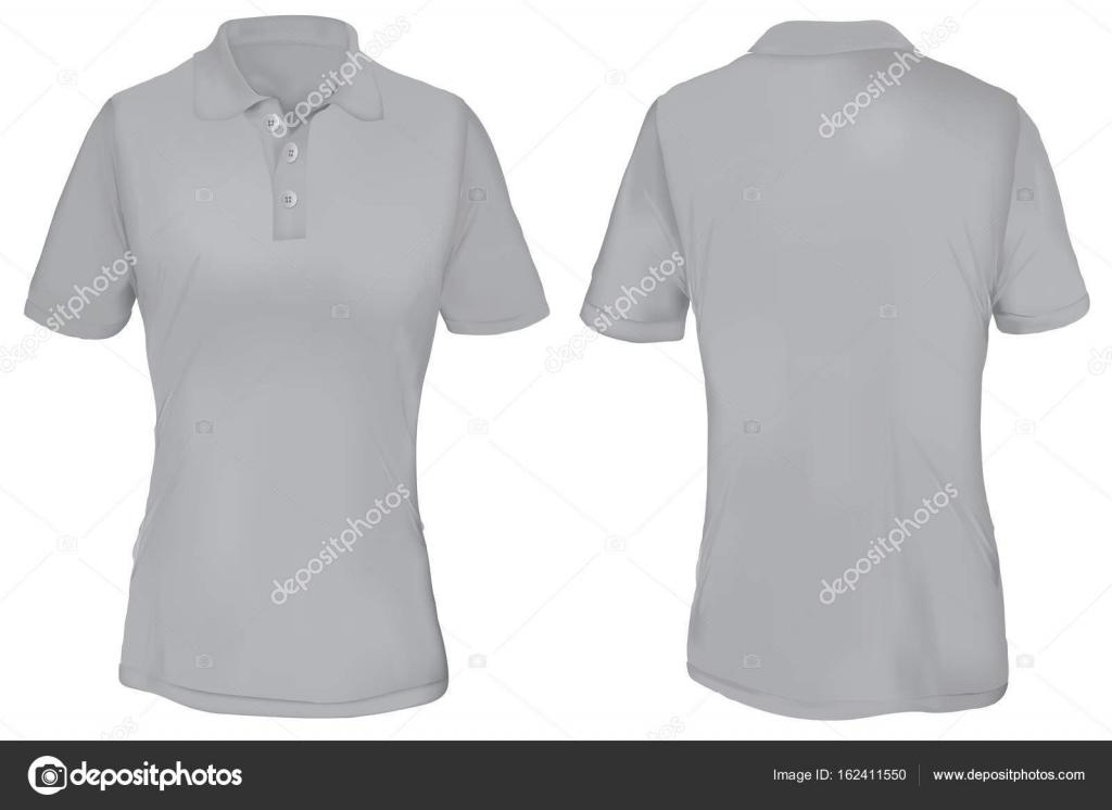Gray polo shirt template for woman stock vector airdone 162411550 gray polo shirt template for woman stock vector maxwellsz