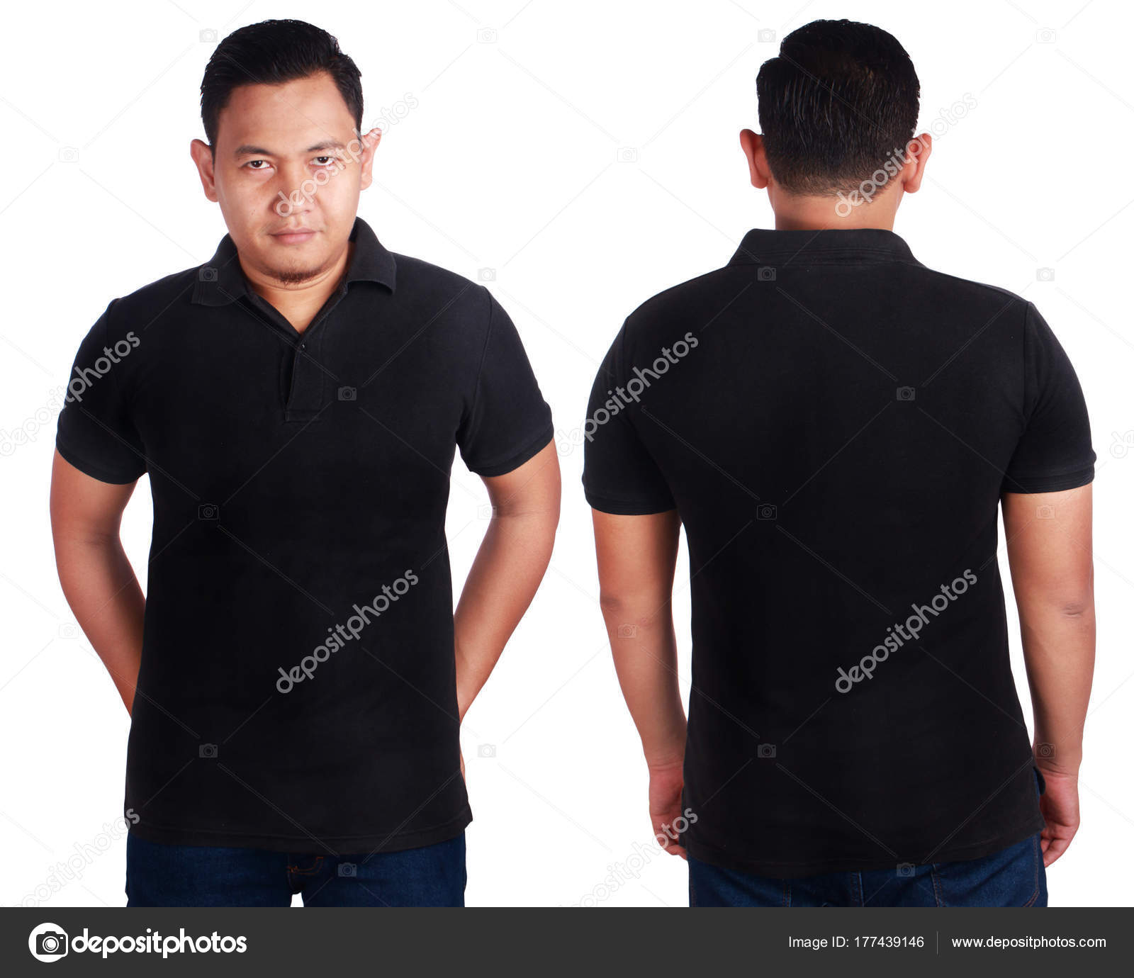 Black Polo Shirt Mockup Template Stock Photo C Airdone 177439146