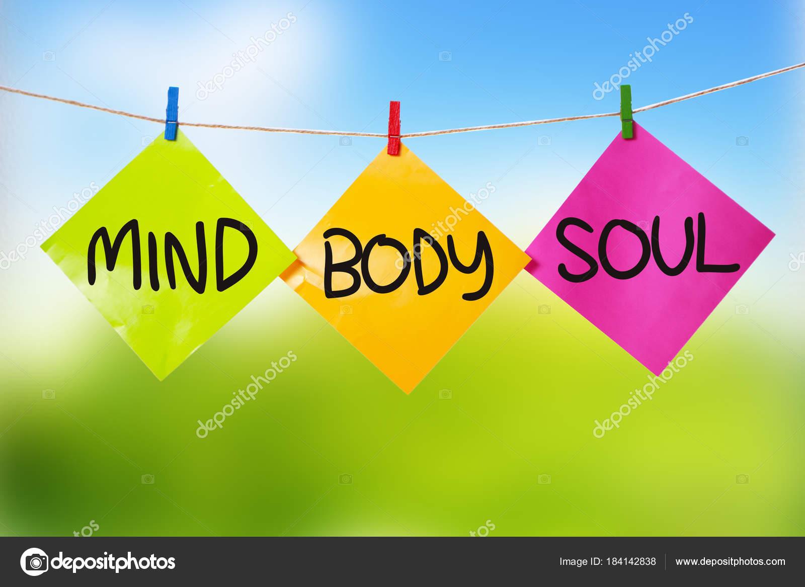 Geist Körper Seele Inspirierende Text Stockfoto Airdone