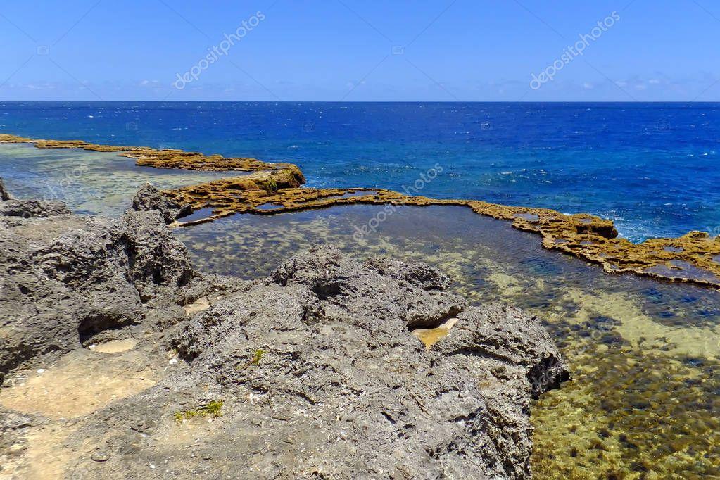 Coastline on the southern part of Tongatapu island in Tonga