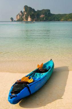 Colorful kayak at Ao Loh Dalum beach on Phi Phi Don Island, Krab