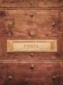 Fotografie Zaúčtujte vývěsní štít na dveřích v Orvietu, předměstí Řím, Itálie