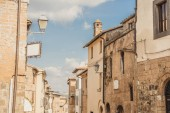 Fotografie old buildings and clear blue sky in Orvieto, Rome suburb, Italy