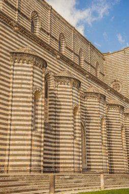 part of Orvieto Cathedral in Orvieto, Rome suburb, Italy