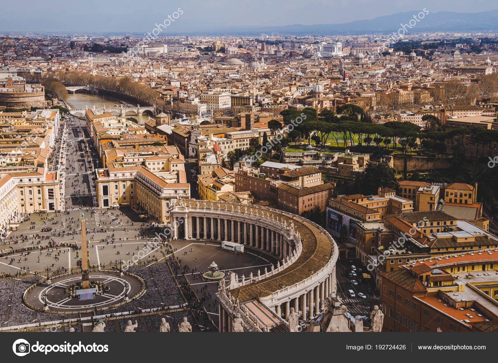 バチカン市国 イタリアの古代建物の空中写真 \u2014 ストック写真