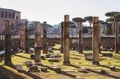 schöne ruinen des römischen forums, rom, italien