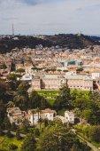 Fotografia vista aerea di antichi edifici romani e governatore Palace della città del Vaticano, Italia