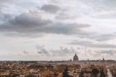 vista aerea della bella città di Roma, Italia
