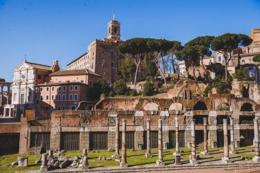 ancient roman forum ruins, Rome, Italy
