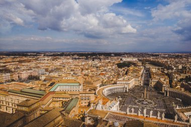 aerial view of St. Peter's square and Vatican streets, Italy