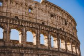 antique famous Colosseum ruins in Rome, Italy