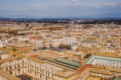 Photo aerial view of streets and buildings in Rome, Italy
