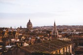 Photo view of old St Peters Basilica in Rome, Italy