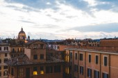 Fotografie Blick auf St. Peters Basilika Abend in Rom, Italien