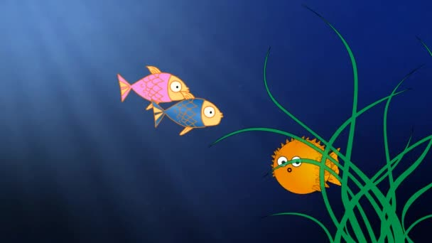 fumetto di pesce sottacqua carina