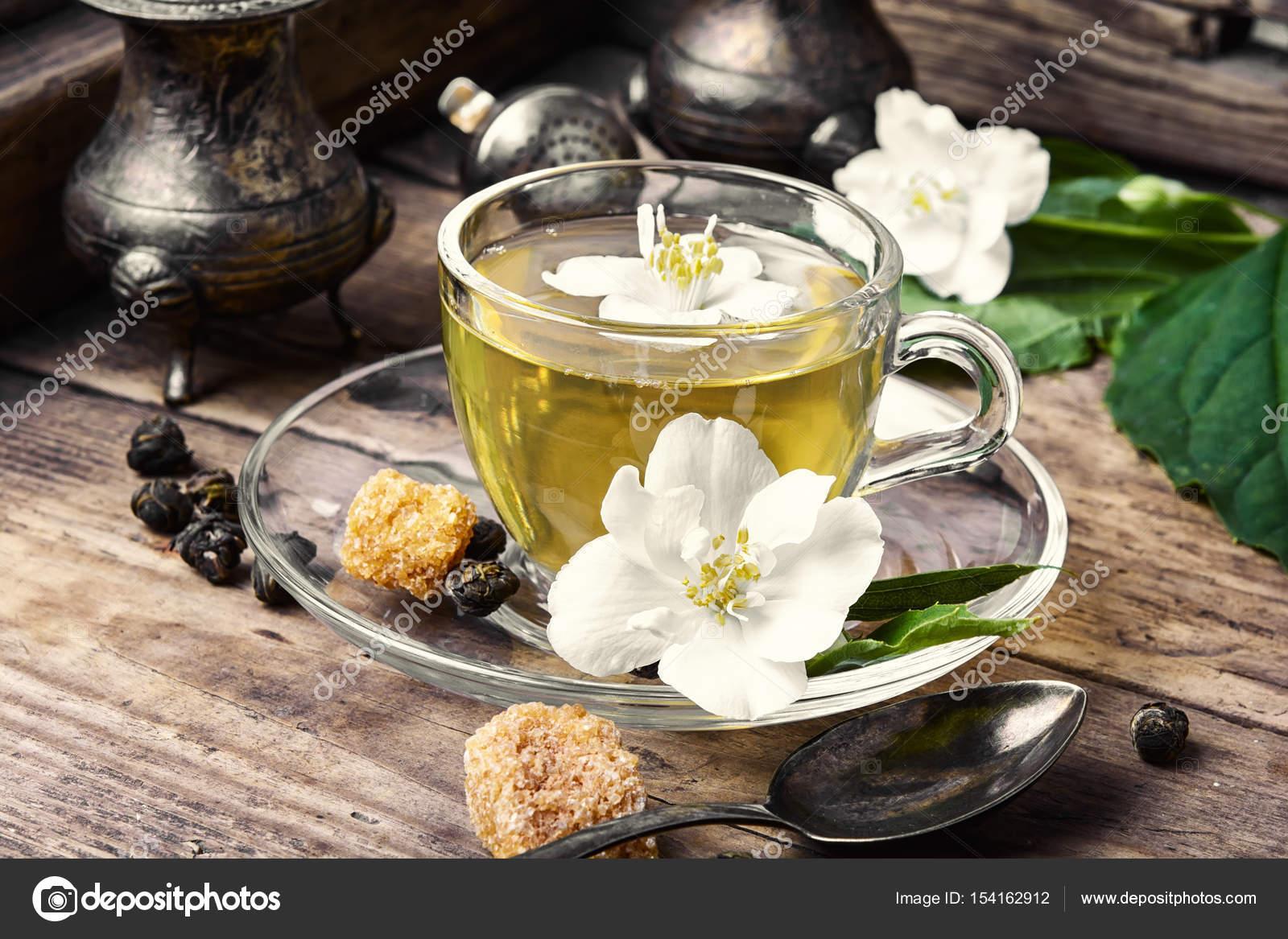 Herbal Tea With Jasmine Flowers Stock Photo Nikolaydonetsk
