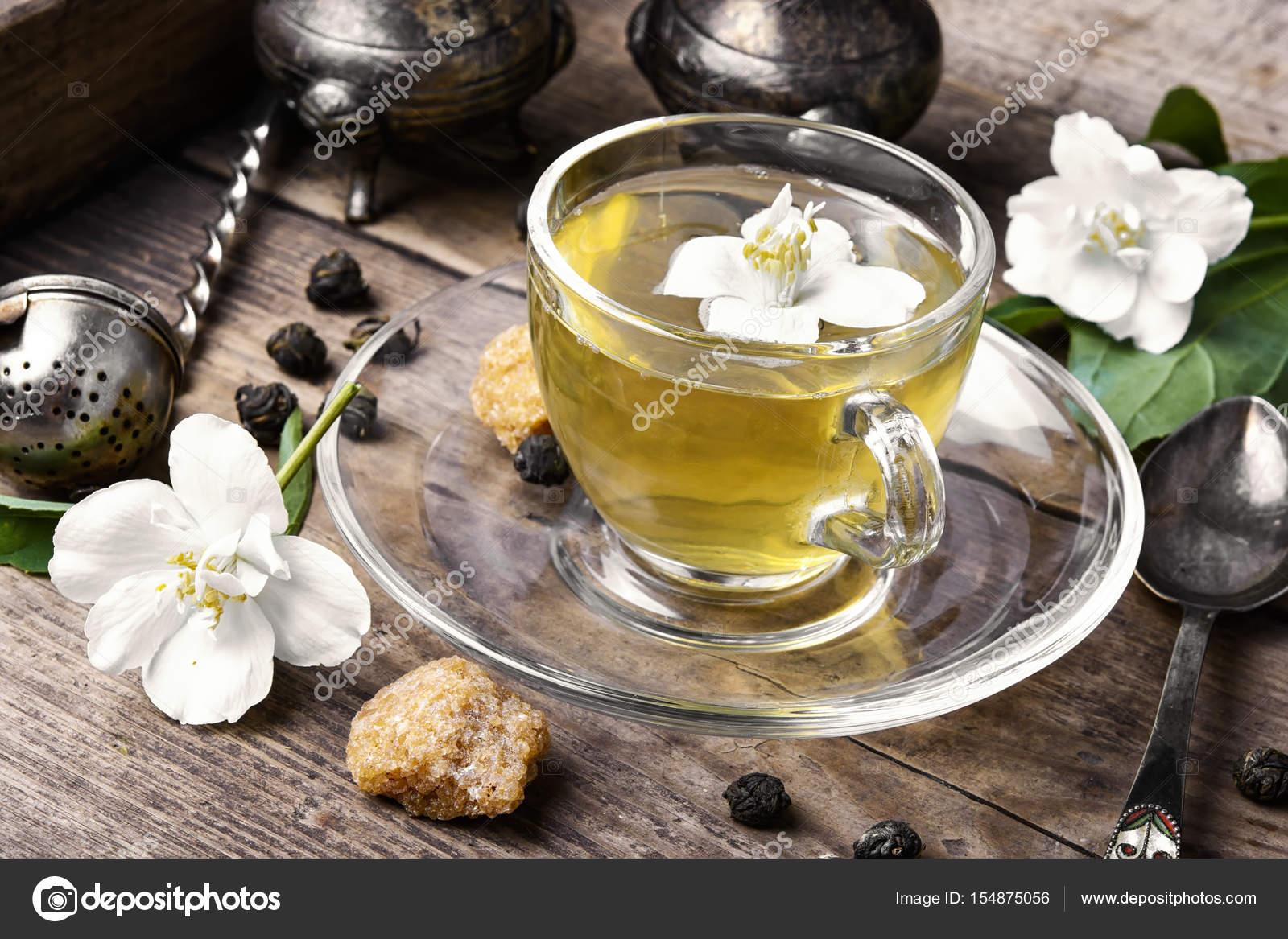 Chinese Green Tea With Jasmine Stock Photo Nikolaydonetsk