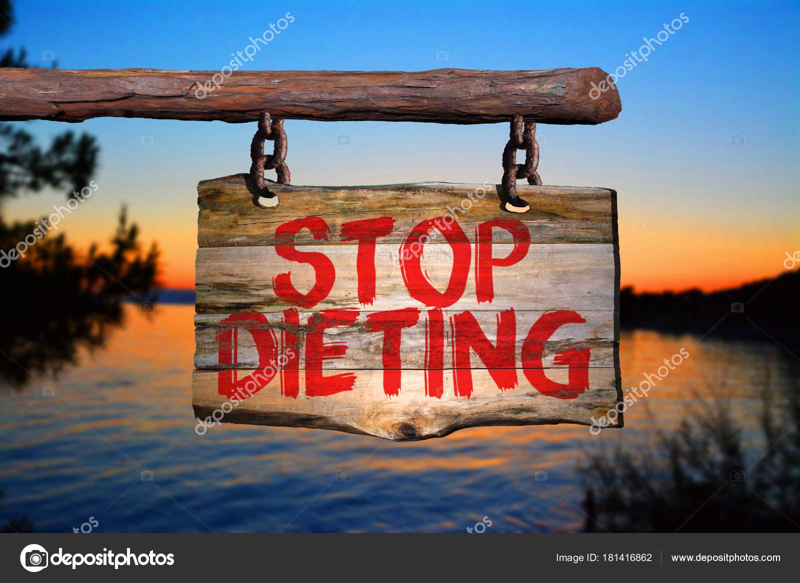 Pare De Fazer Dieta Sinal Frase Motivacional Stock Photo
