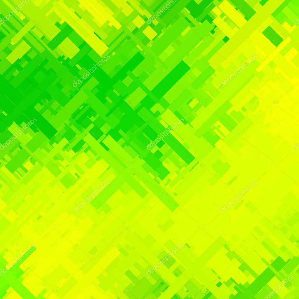 Fondo Verde Y Amarillo Glitch