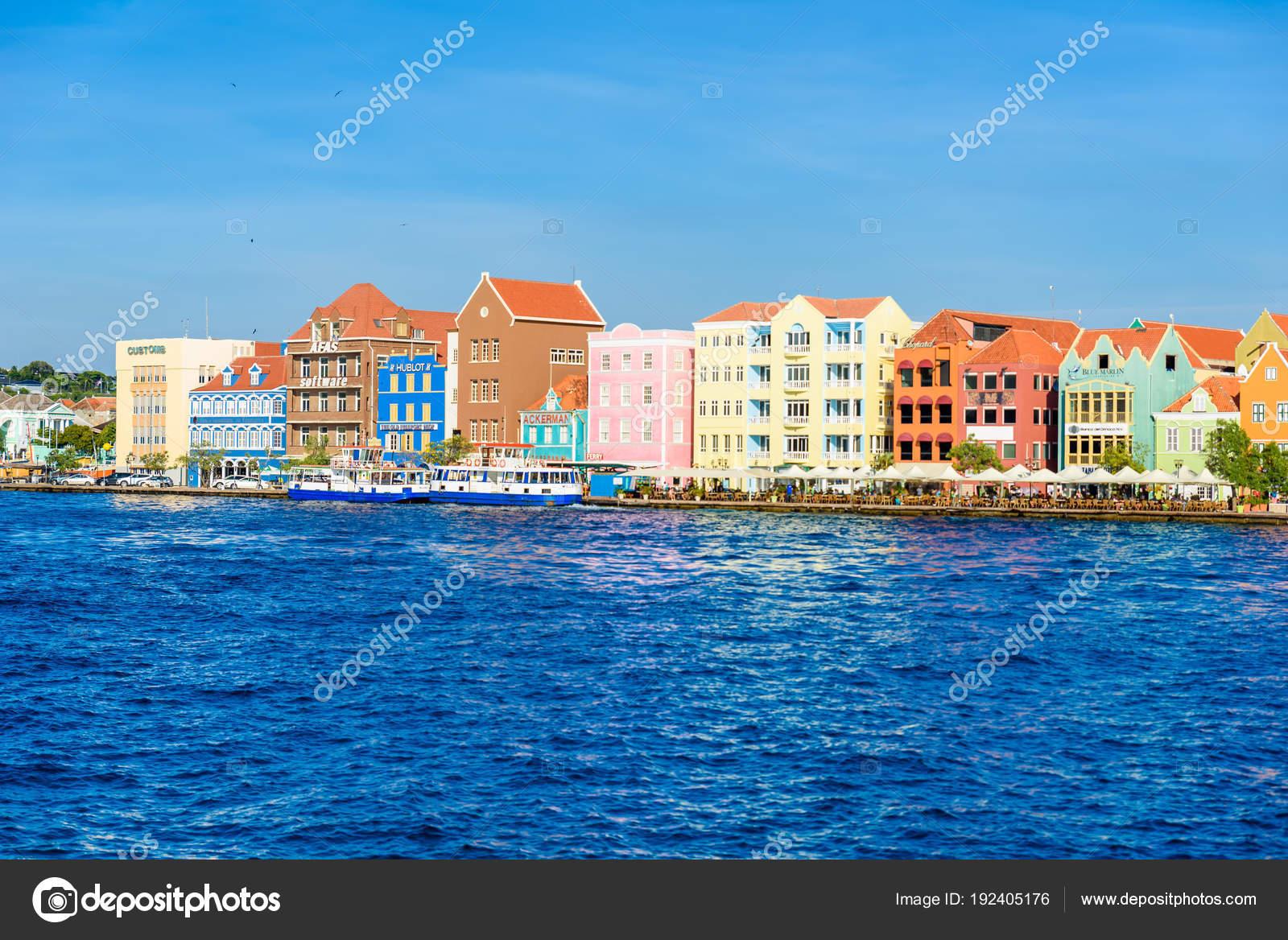 Coloridos Edificios Caribe Centro Curacao Antillas Neerlandesas