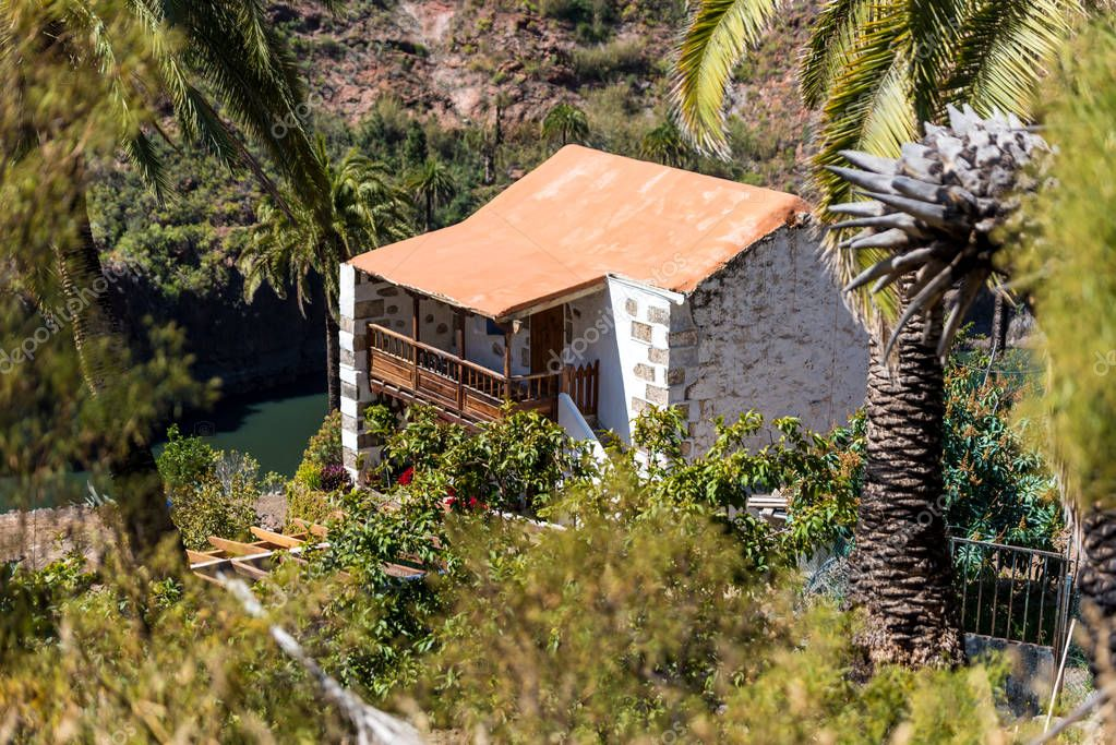 Small stone house in Valley Ayagaures of gran canaria, spain