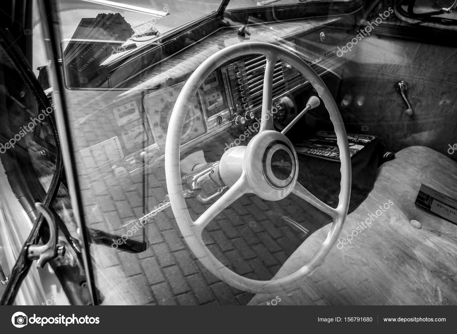 interieur van het automerk dodge business coupe 1940 stockfoto