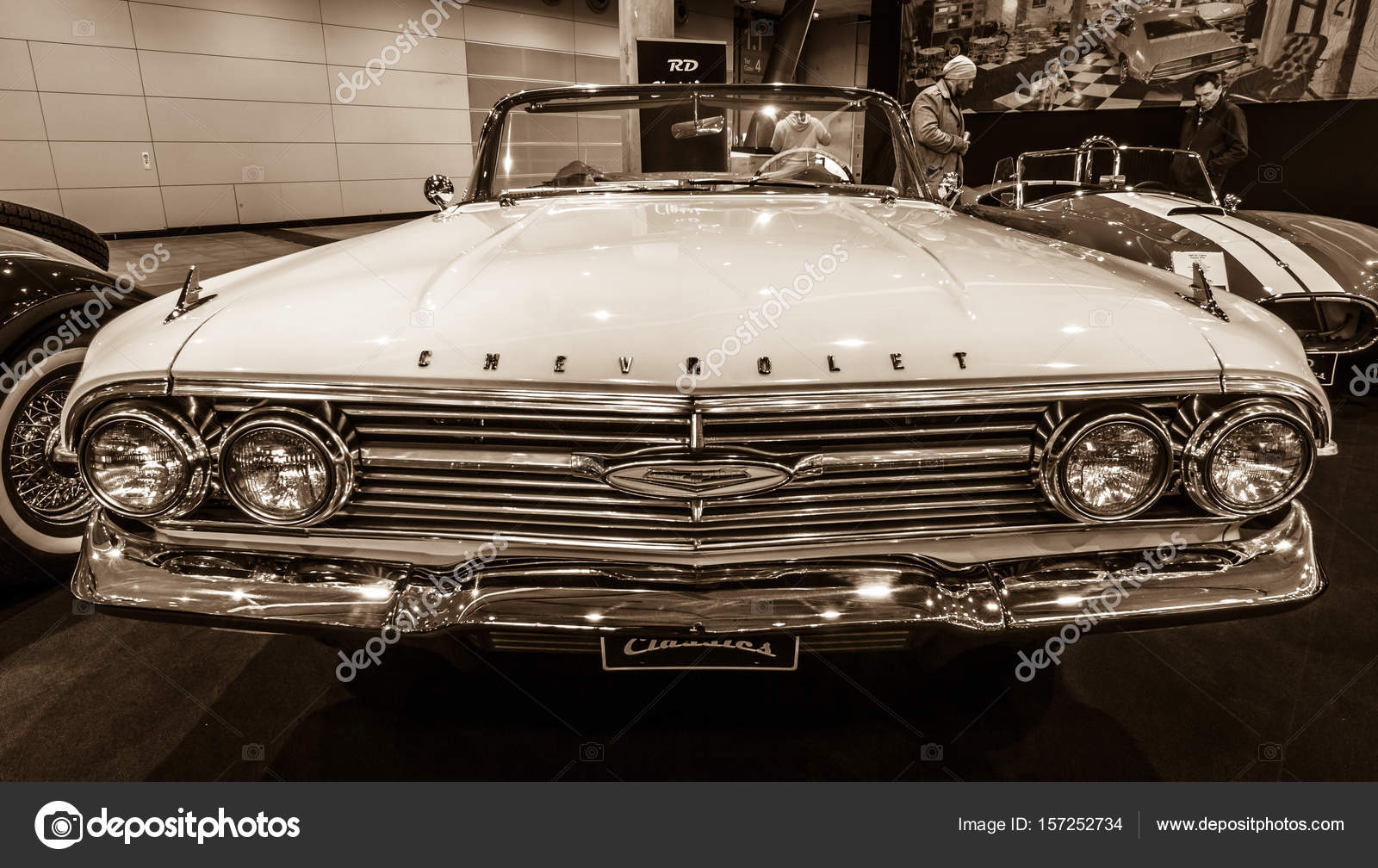 Full Size Car Chevrolet Impala Convertible 1960 Stock Editorial