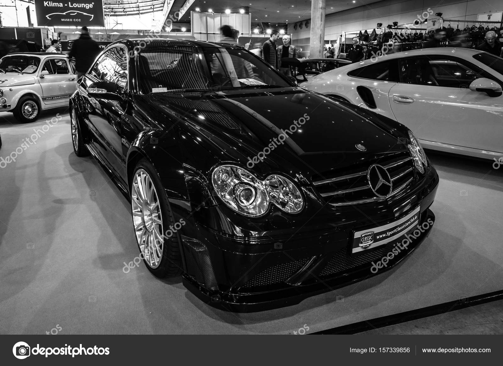 Mid Size Luxury Sports Car Mercedes Benz Clk63 Amg Black