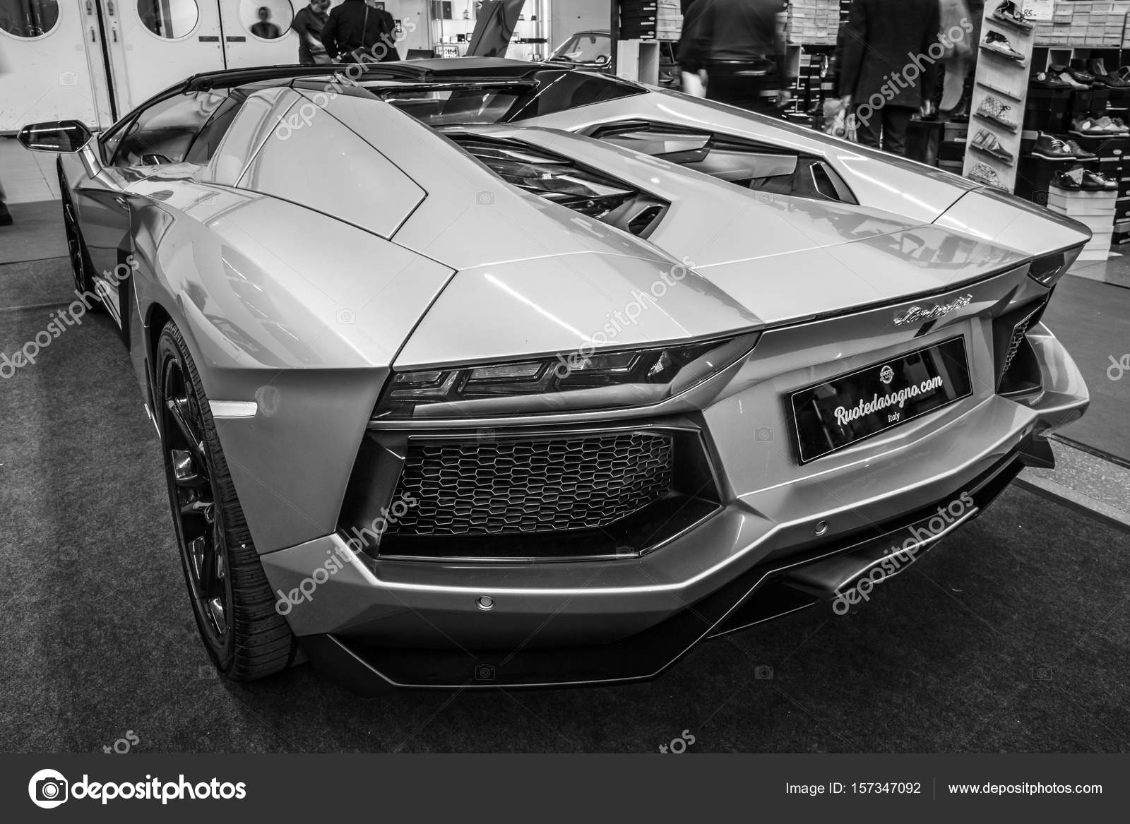 Sportbil Lamborghini Aventador Lp 700 4 2014 Redaktionell
