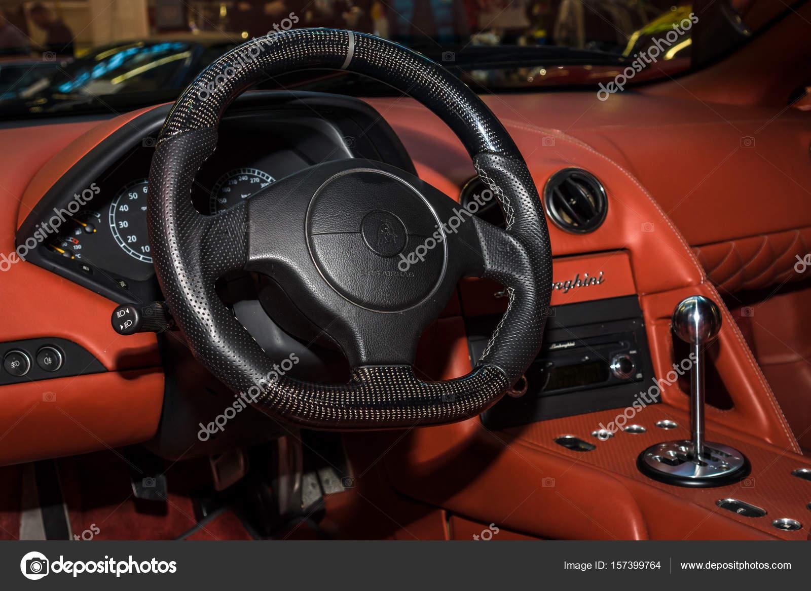 Interior Of Supercar Lamborghini Murcielago 2004 Stock Editorial