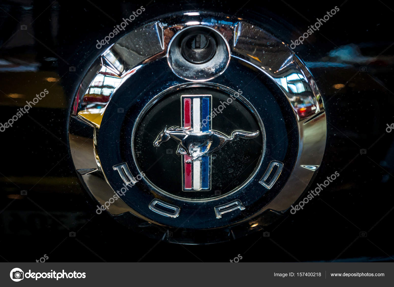 Symbol of ford mustang close up stock editorial photo skohl stuttgart germany march 04 2017 symbol of ford mustang close up europes greatest classic car exhibition retro classics photo by skohl biocorpaavc Gallery