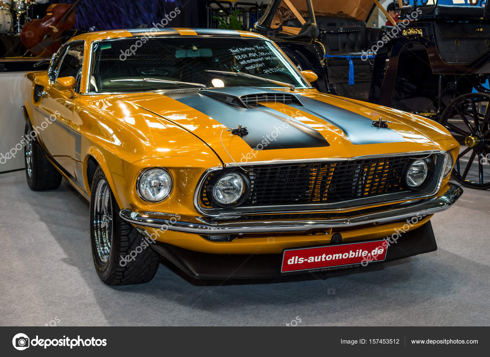 Pony car ford mustang 1969 stock photo