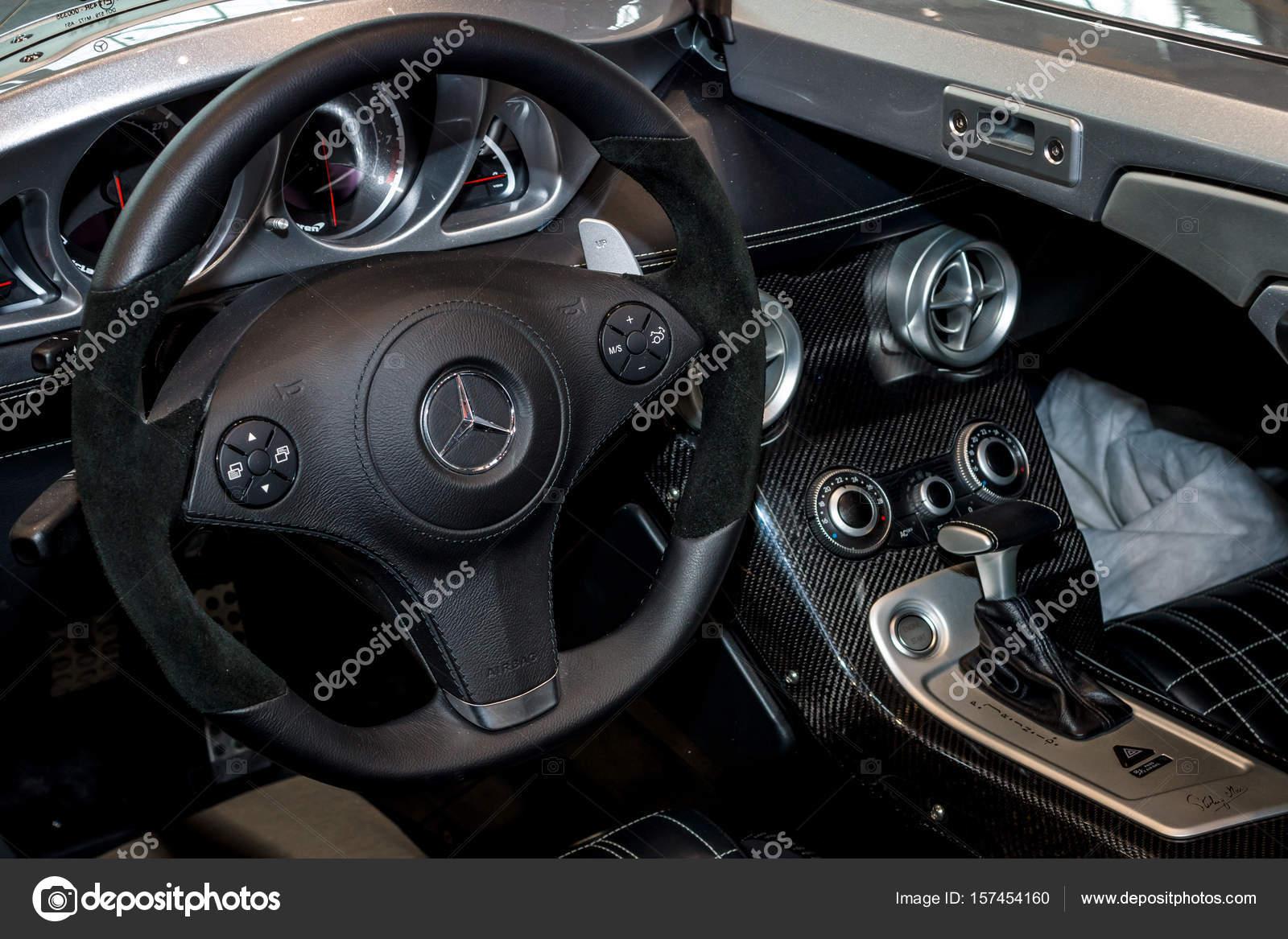 Interior Da Mercedes Benz Slr Stirling Moss U2014 Fotografia De Stock
