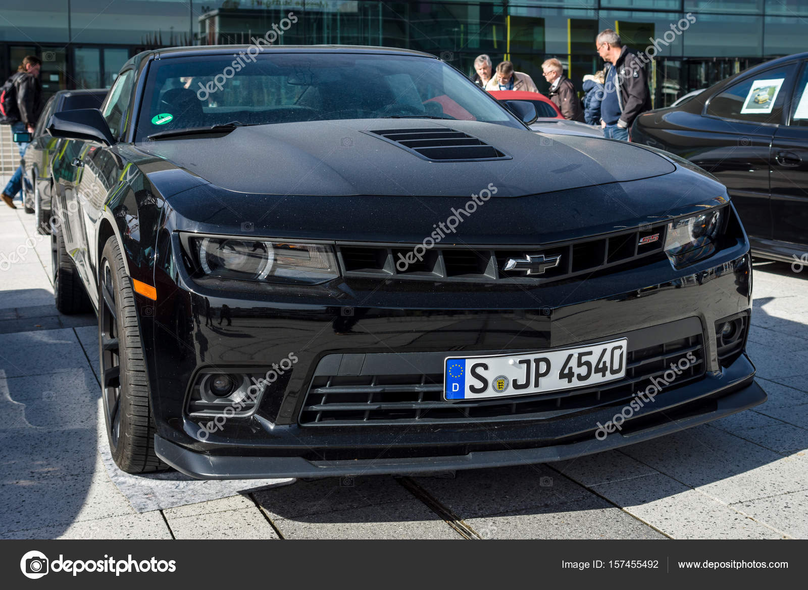 Muscle car The Chevrolet Camaro SS (fifth generation), 2015. – Stock ...
