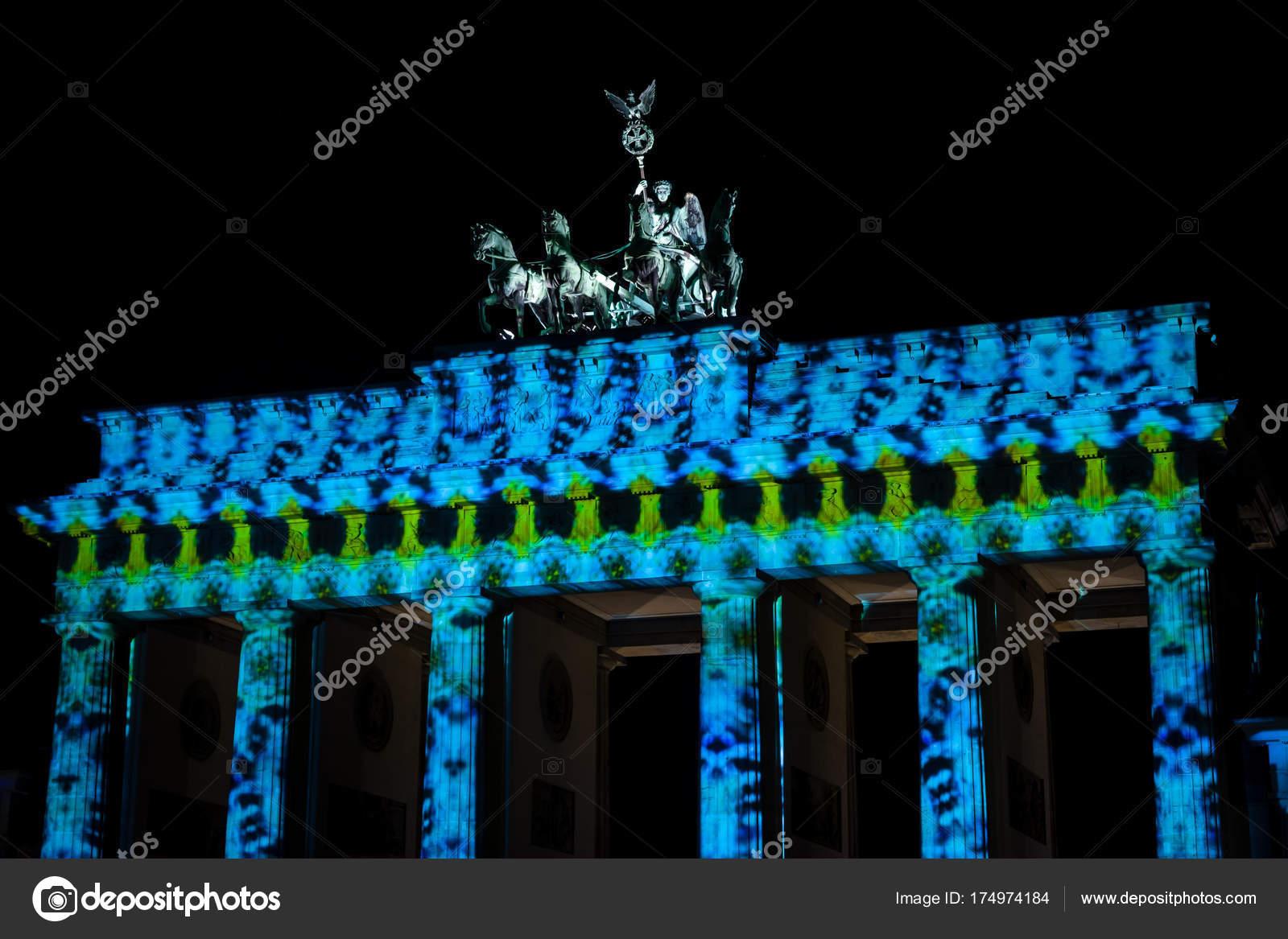 Beleuchtung Berlin | Berlin Oktober 2017 Fragment Des Brandenburger Tors Der Festival