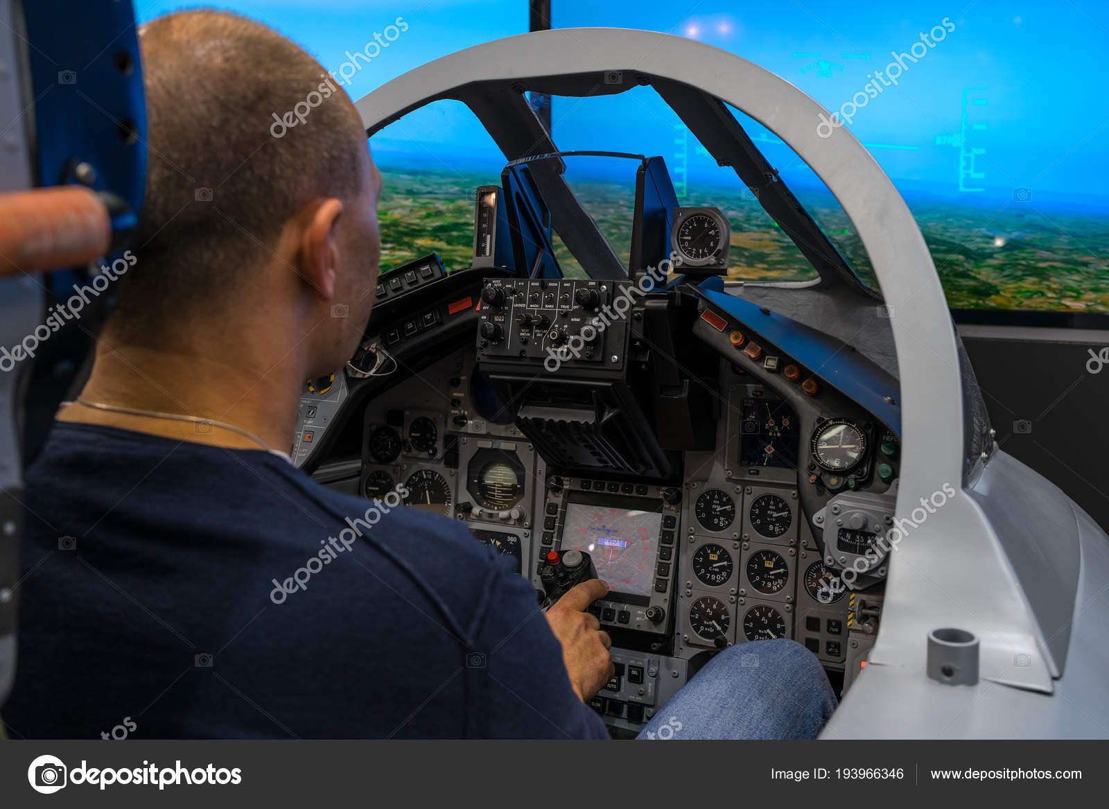 Berlin Germany April 2018 Cockpit Multirole Fighter