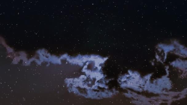 Cestování vesmírem koryta plná hvězd a mlhovin.