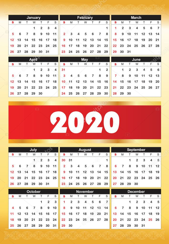 30+ Baru Kalender 2020 Agenda, Desain Kalender