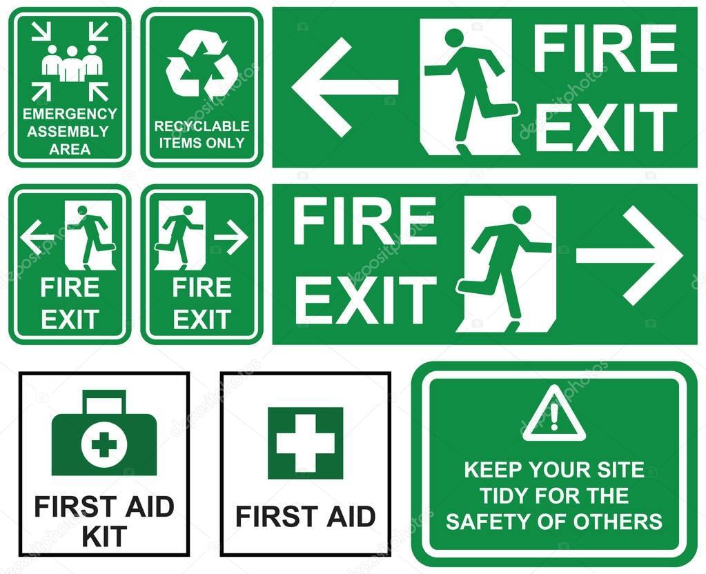 Conjunto De Salida De Emergencia Incendios, Zona De