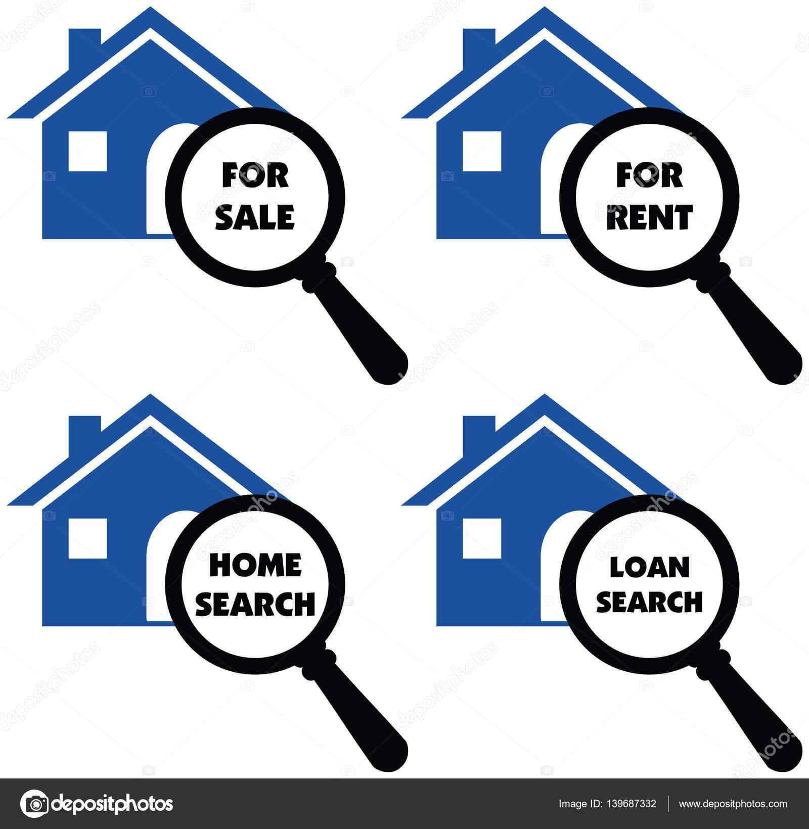 d1d243cd101a Σημάδια διάνυσμα αναζήτησης σπίτι