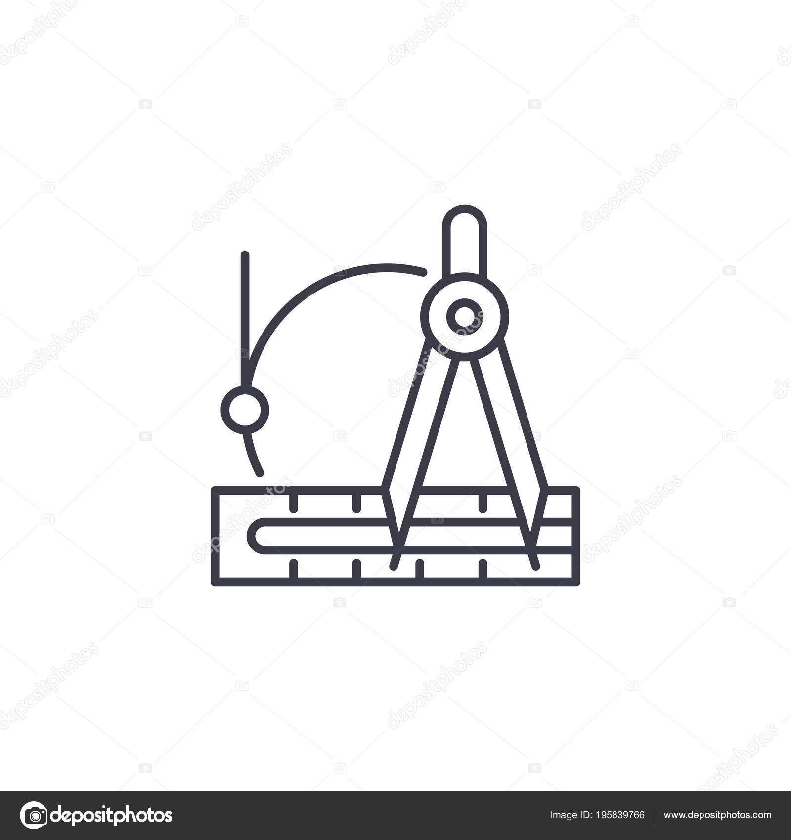 Przygotowanie Instrumentów Liniowe Ikona Koncepcja