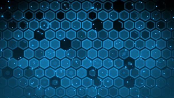 Blaue Sechseck Maßstab Schleifen Hintergrund