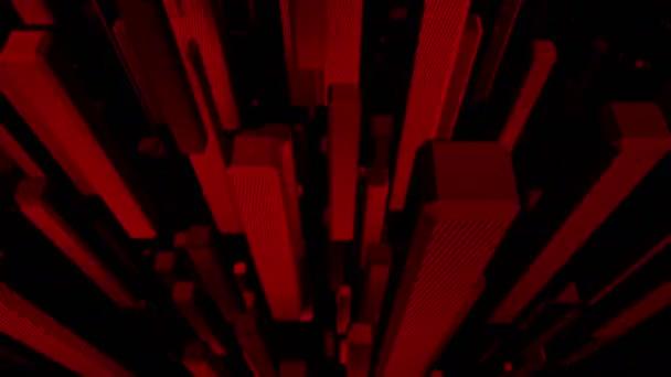 Červené abstraktní kostky pozadí opakování