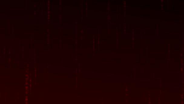 Červené binární techno pozadí animace