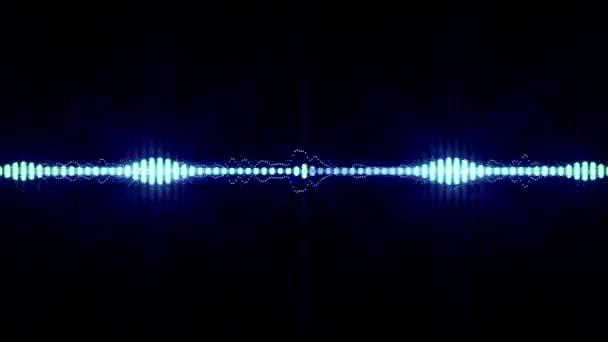 Zářící digitální spektra pozadí animace