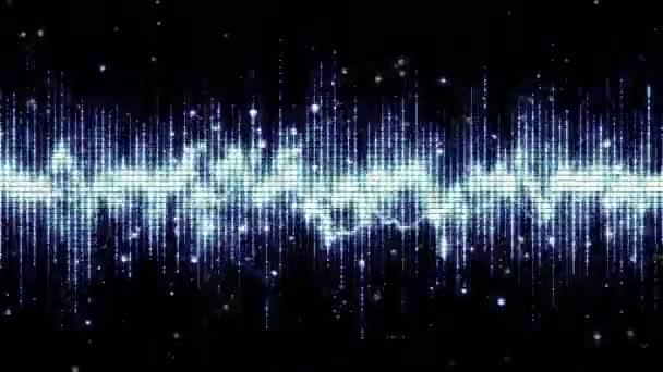 Mřížka elektro spektrum animace pozadí