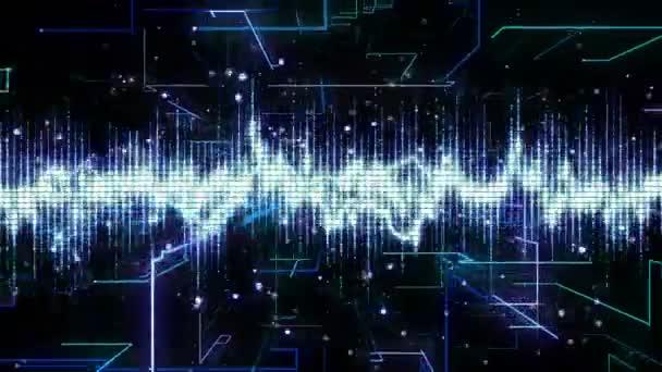Techno-Looping mit Gitter-Elektro-Animation Hintergrund